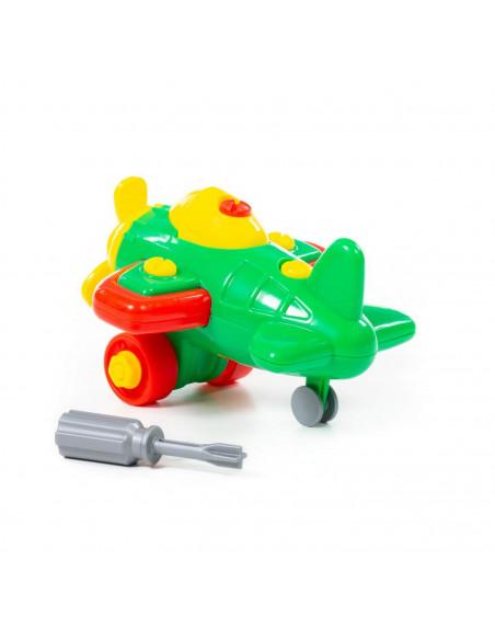 Wader QT Kolorowy Samolot Ze Śrubokrętem 19el.